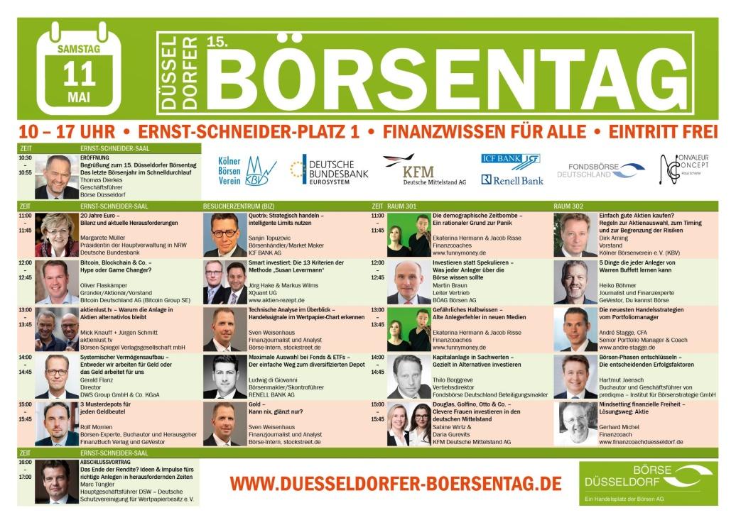 Börsentag an der Düsseldorfer Börse am 11.05.2019